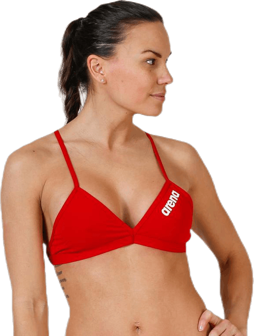 Solid Tie Back Top Red