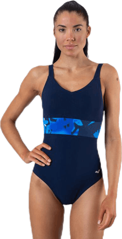 Doris Wing Back One Piece Blue/Black