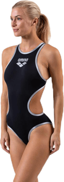 Arena One Biglogo One Piece Black/Silver