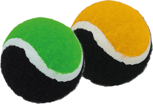 Set of 2 Catch Balls Patterned/Black