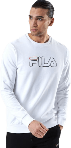 Liam Crew Sweat White