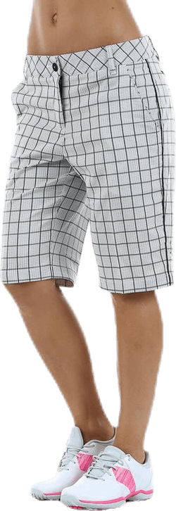 Pattern Tech Bermuda Shorts White/Black