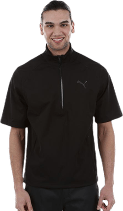 Short Sleeve Rain Popover Black