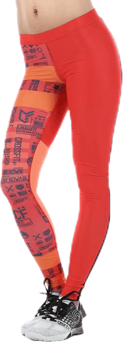 CrossFit Comp Tight Stripes Orange