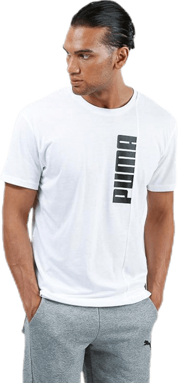 Energy Triblend Graphic Tee White