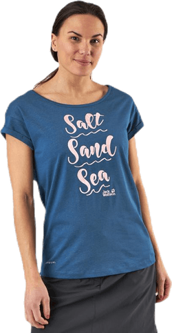 Salt Sand Sea Tee Blue
