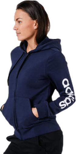 Linear Full Zip Hood Blue