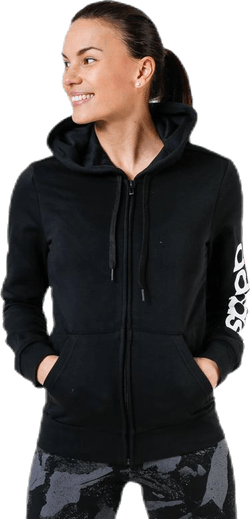 Linear Full Zip Hood Black