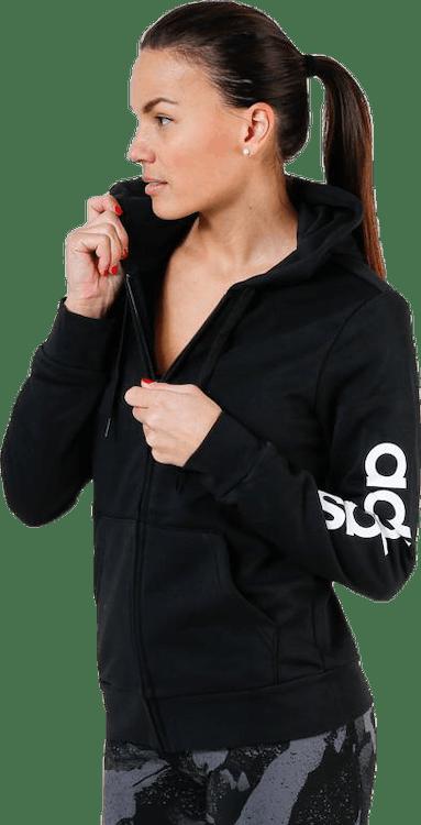 Linear Full Zip Hood Black