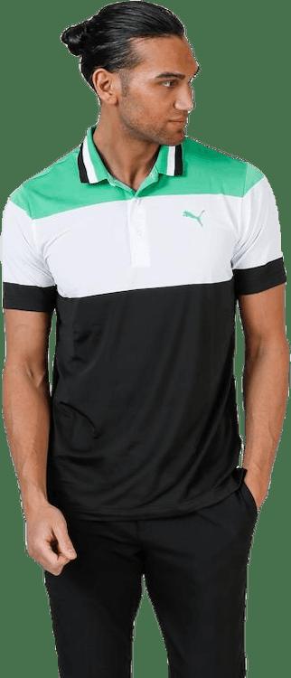 Nineties Polo Black/White/Green