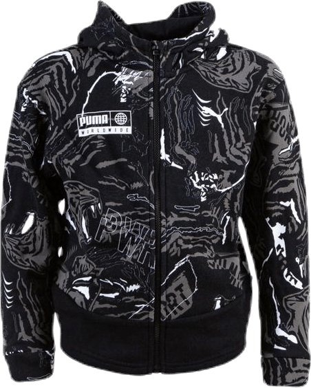 Alpha AOP Sweat Jacket Jr Black