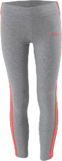 Essential 3 Stripe Tights Youth Pink/Grey
