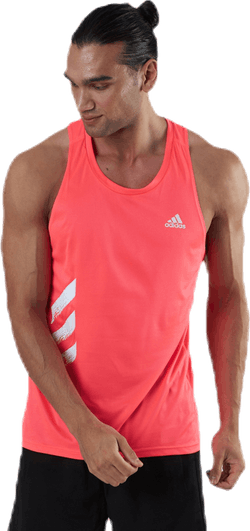 Own The Run Singlet 3S Pink/White