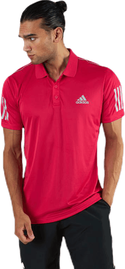 Club 3 Stripes Polo Pink