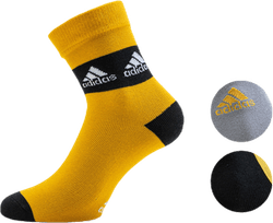 3-Pack Crew Socks Black/Grey/Yellow