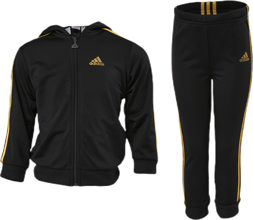 Shiny Hooded Jogger Set Infant Black/Gold