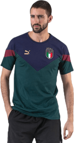 FIGC Iconic MCS Tee Blue/Green