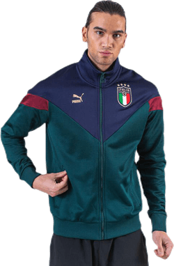 FIGC Iconic MCS Track Jacket Blue/Green