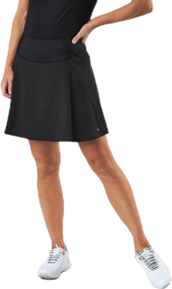 Powershape Solid Woven Skirt Black