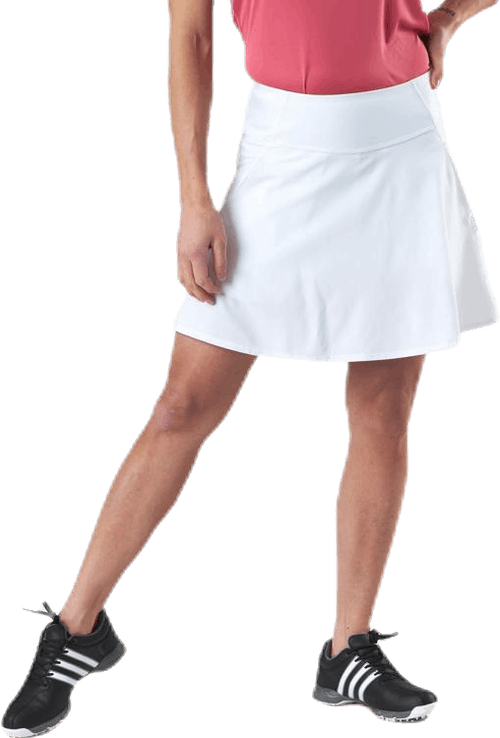 Powershape Solid Woven Skirt White