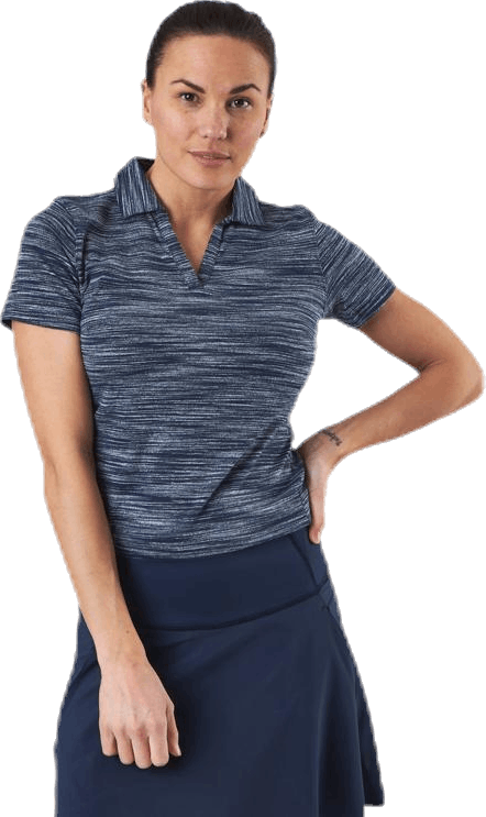 Heather Slub Polo Blue