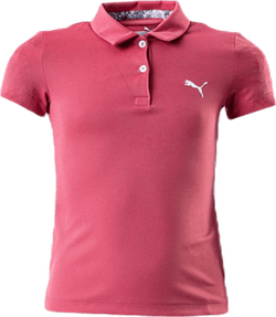 Girls Essential Polo Pink