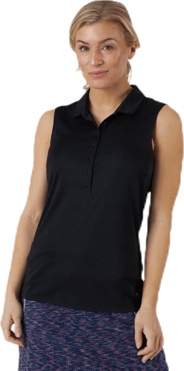 Rotation Sleeveless Polo Black