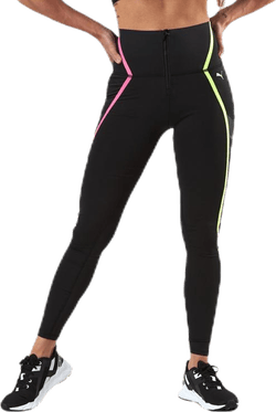 Train Bonded Zip High Rise Full Tight Pink/Black