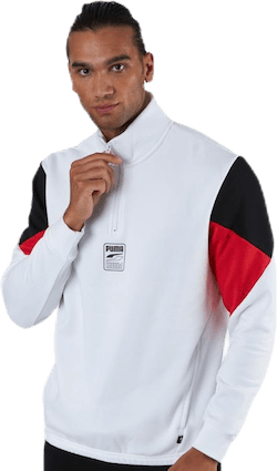 Rebel Half-Zip Fl White