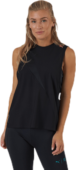 Train Pearl Mesh Tank Black