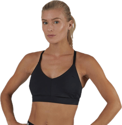 Low Impact Strappy Bra Black