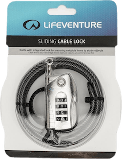 Sliding Cable Lock Black