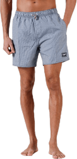 "Stripe Leisure 16"" Watershort Blue/White"