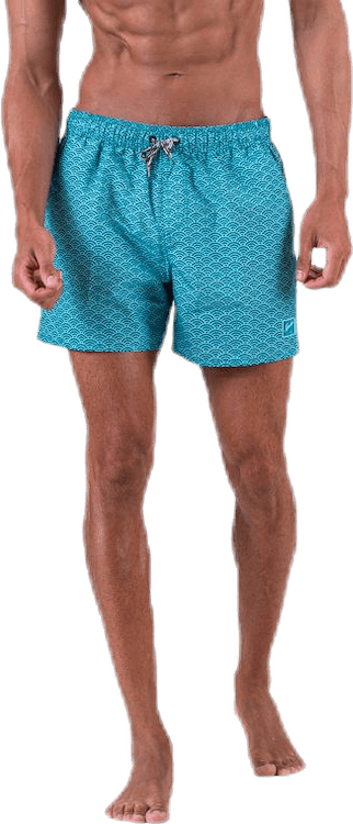 "Vintage Printed 14"" Watershorts Green"