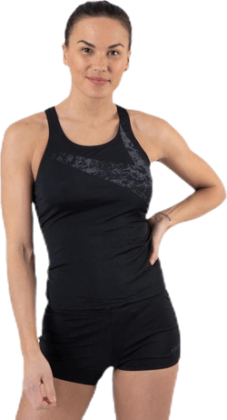 Boomsatr Placement Tankini Boyleg Black/Grey