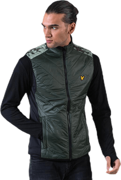 Brandon Chevron Gilet Green
