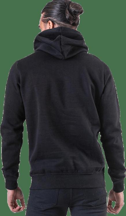 Fleece Logo Hoody Black