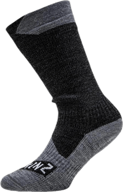 All Weather Mid Sock Black/Grey