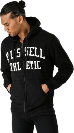 Zip Through Tackle Twill Hoody Black