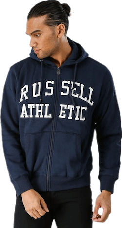 Zip Through Tackle Twill Hoody Blue