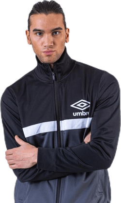 Panelled Track Top Black