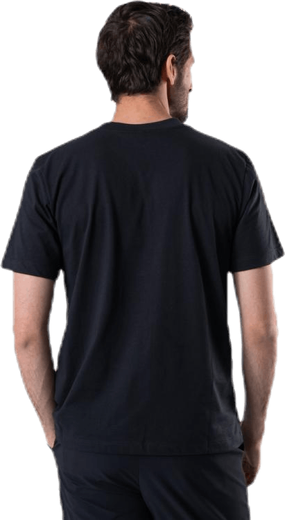 Diamond Cut Pocket Tee Black