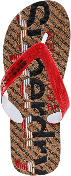Cork Clrpop Flipflop Blue/Red