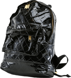 Mini Patent Quilt Black