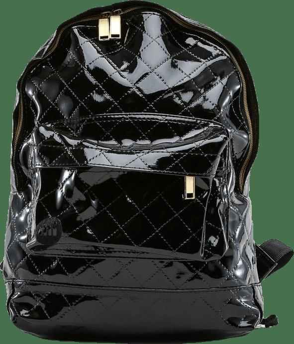 Mini Patent Quilt Black