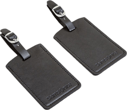 Luggage Tag x2 Black