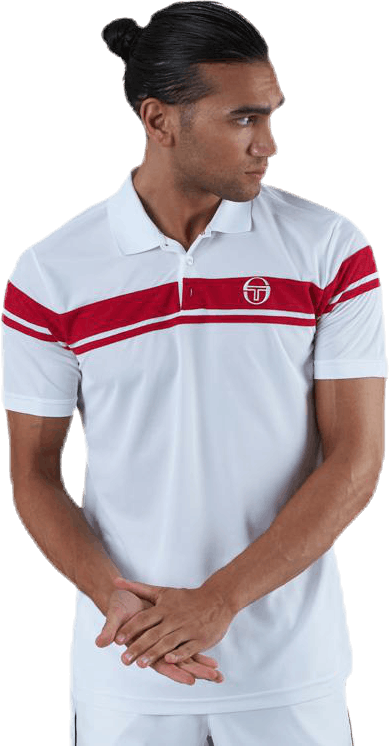 Young Line Pro Polo White/Red
