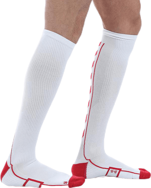 Tech Indoor Sock High White/Red