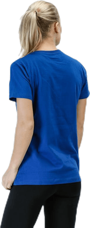 Cotton Logo Tee W s/s Blue