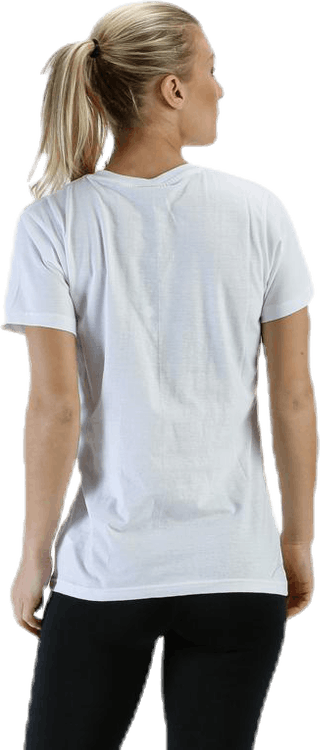 Cotton Logo Tee W s/s White